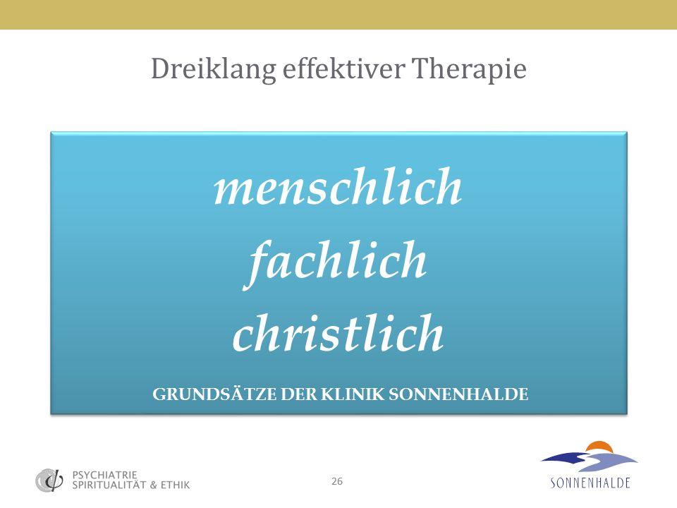 Dreiklang effektiver Therapie