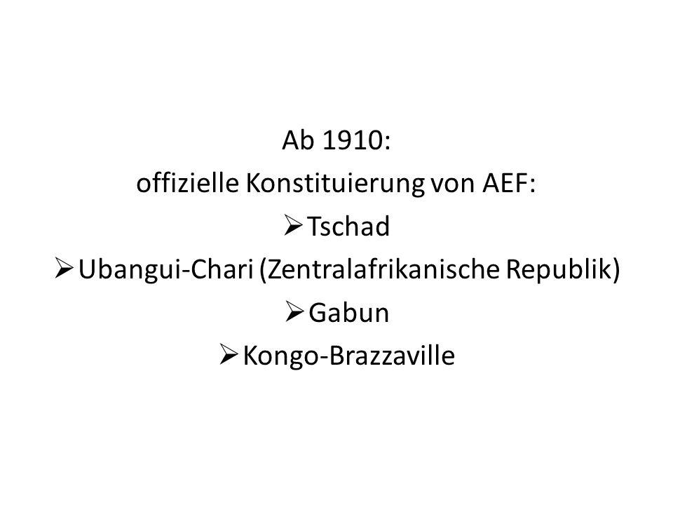 offizielle Konstituierung von AEF: Tschad