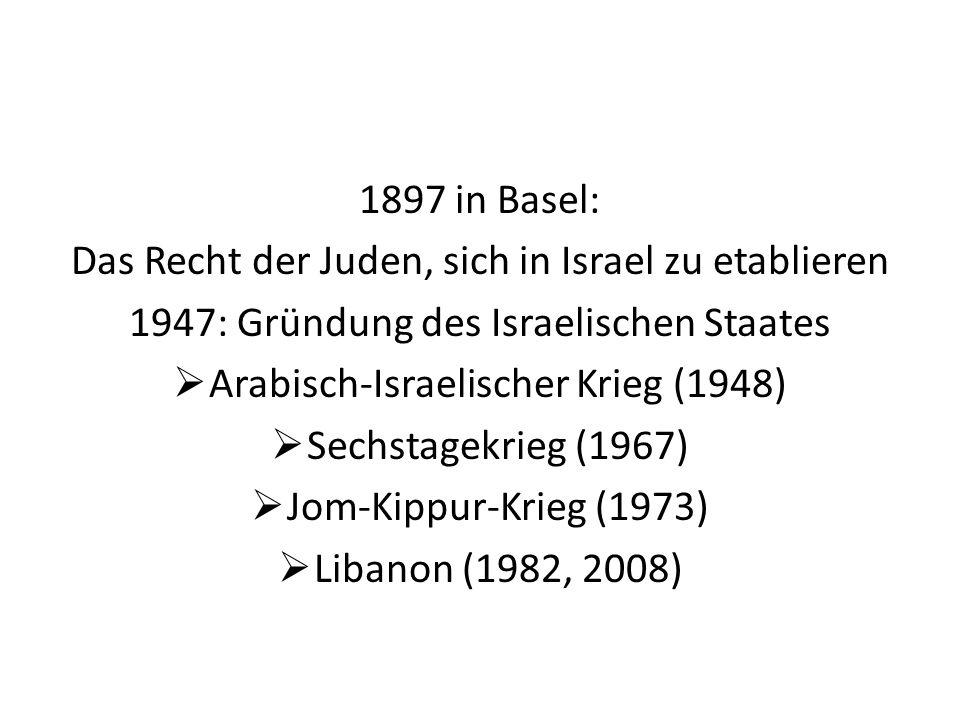 Das Recht der Juden, sich in Israel zu etablieren
