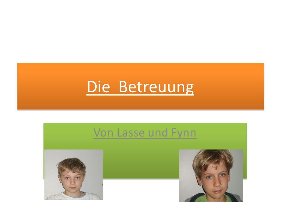 Die Betreuung Von Lasse und Fynn