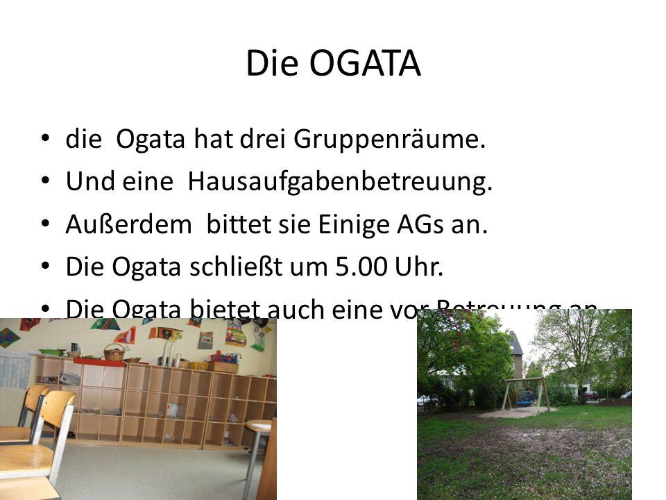 Die OGATA die Ogata hat drei Gruppenräume.