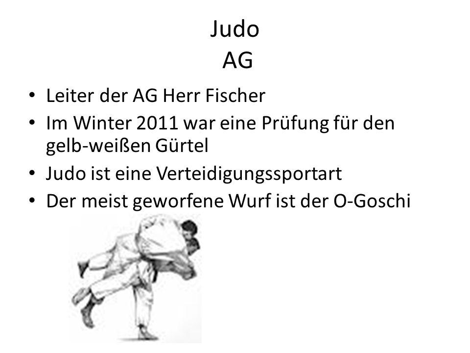 Judo AG Leiter der AG Herr Fischer