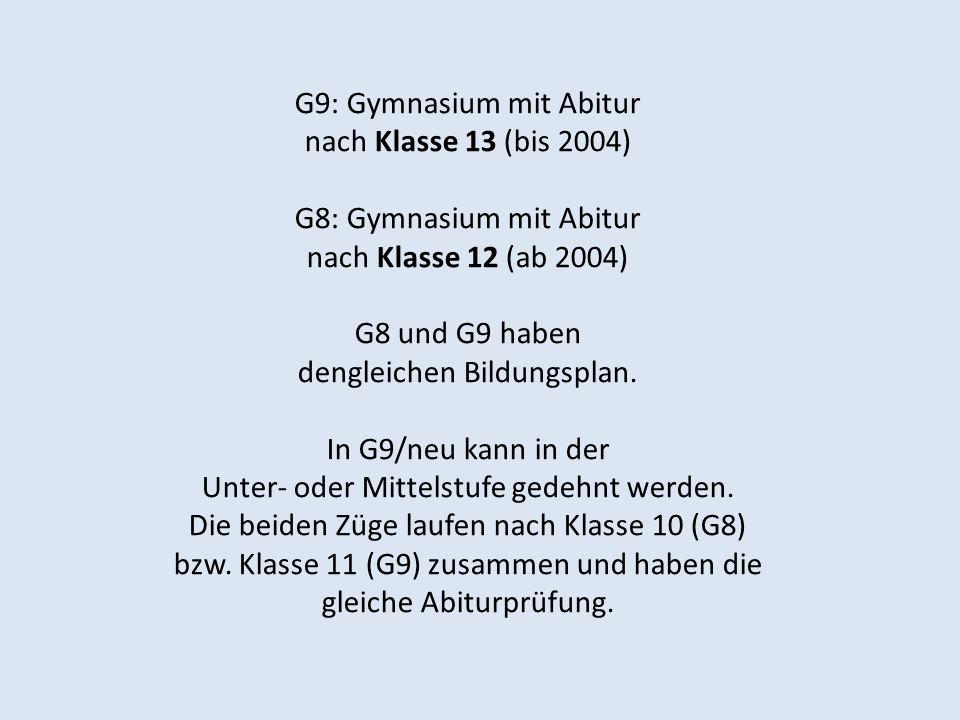 G9: Gymnasium mit Abitur nach Klasse 13 (bis 2004)