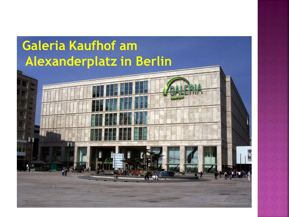 Galeria Kaufhof am Alexanderplatz in Berlin