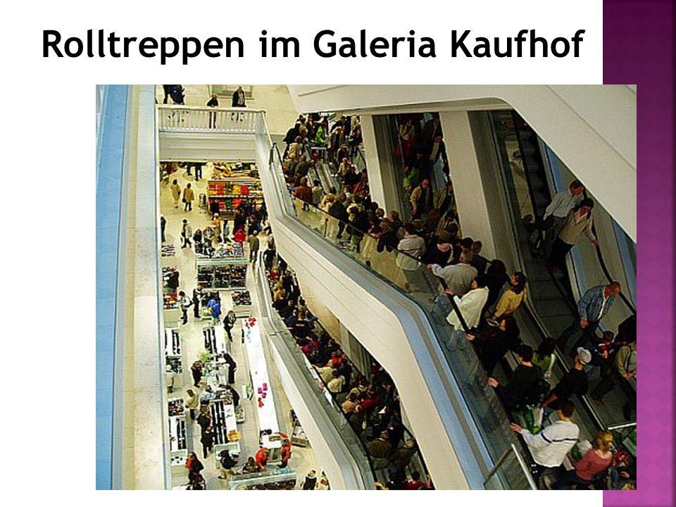 Rolltreppen im Galeria Kaufhof