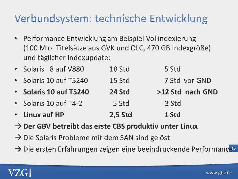 Verbundsystem: technische Entwicklung