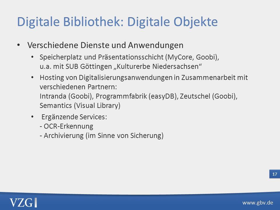 Digitale Bibliothek: Digitale Objekte
