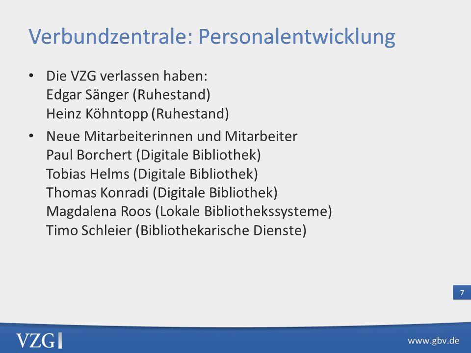 Verbundzentrale: Personalentwicklung
