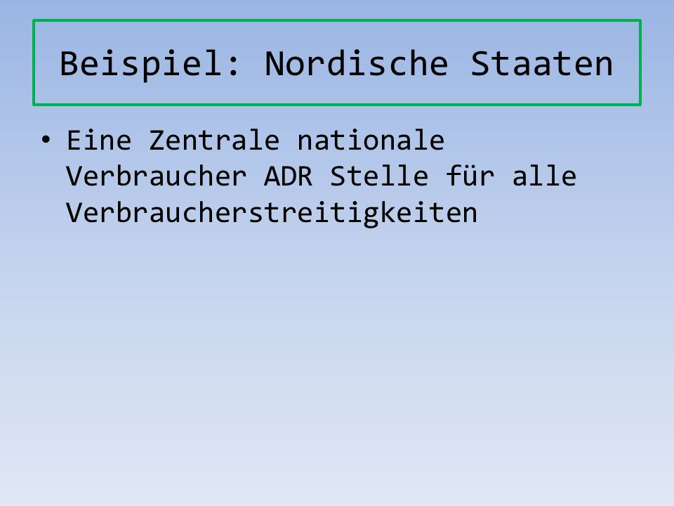Beispiel: Nordische Staaten