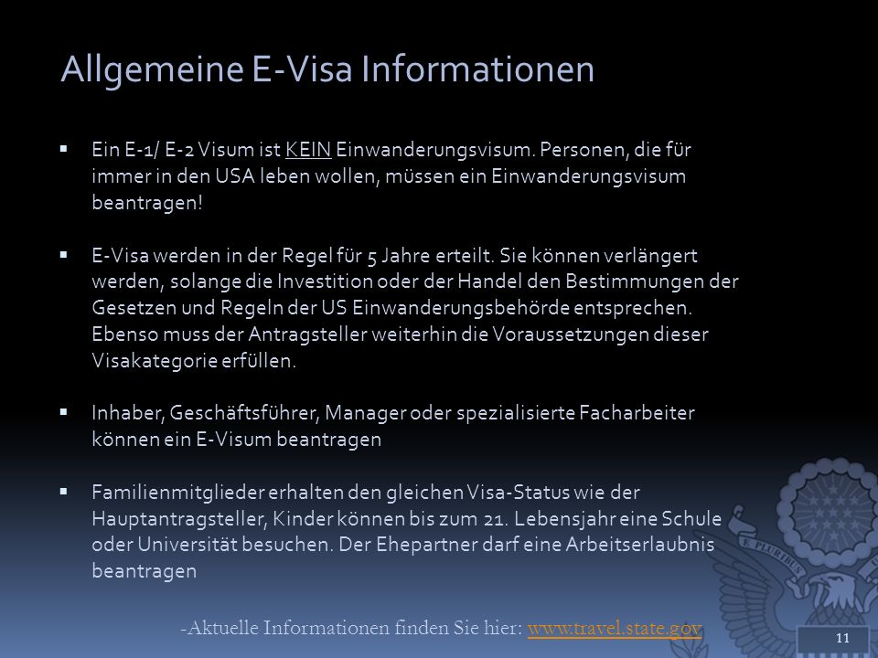 Allgemeine E-Visa Informationen