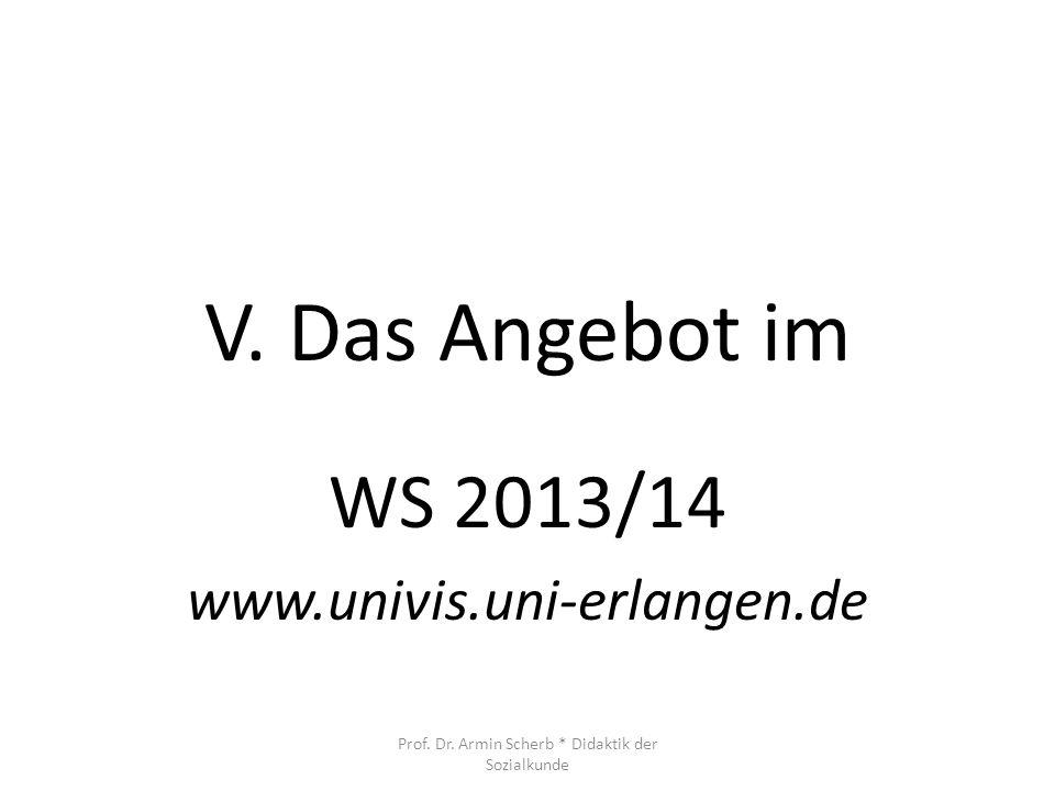 WS 2013/14 www.univis.uni-erlangen.de