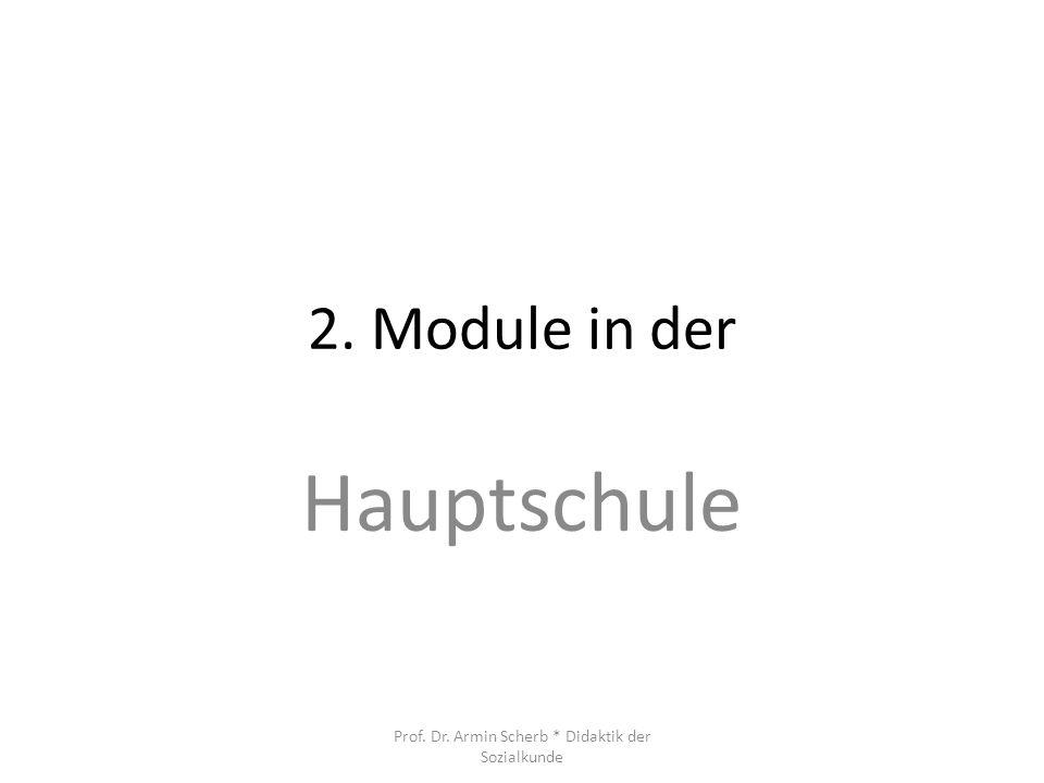 Prof. Dr. Armin Scherb * Didaktik der Sozialkunde