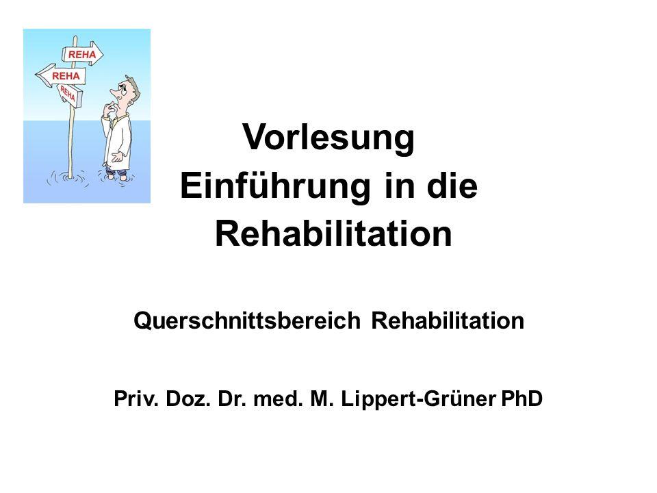 Vorlesung Einführung in die Rehabilitation