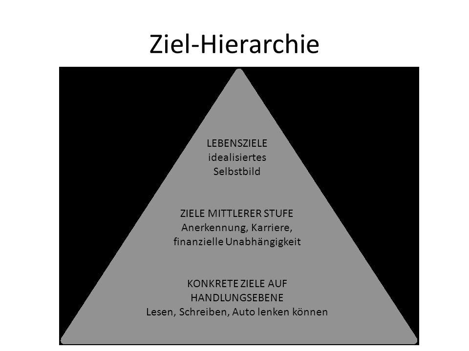 Ziel-Hierarchie LEBENSZIELE idealisiertes Selbstbild