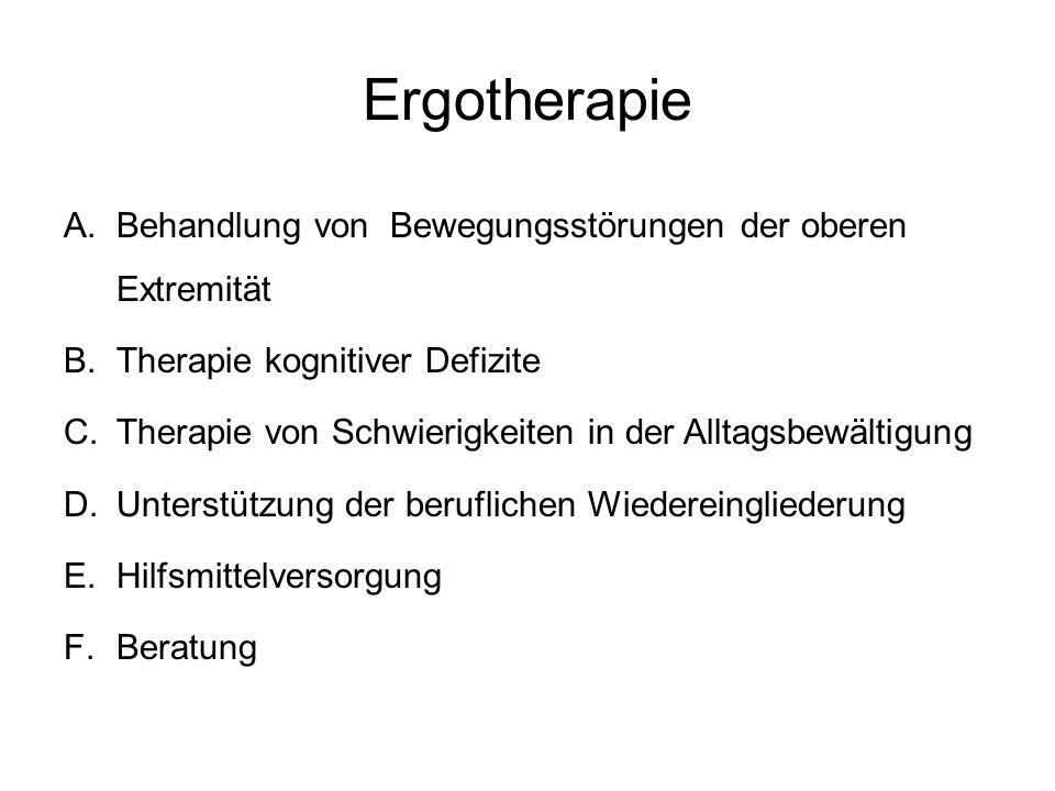 Ergotherapie Behandlung von Bewegungsstörungen der oberen Extremität