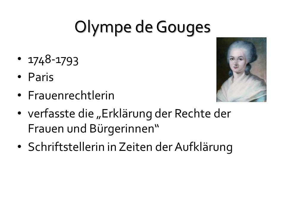 Olympe de Gouges 1748-1793 Paris Frauenrechtlerin