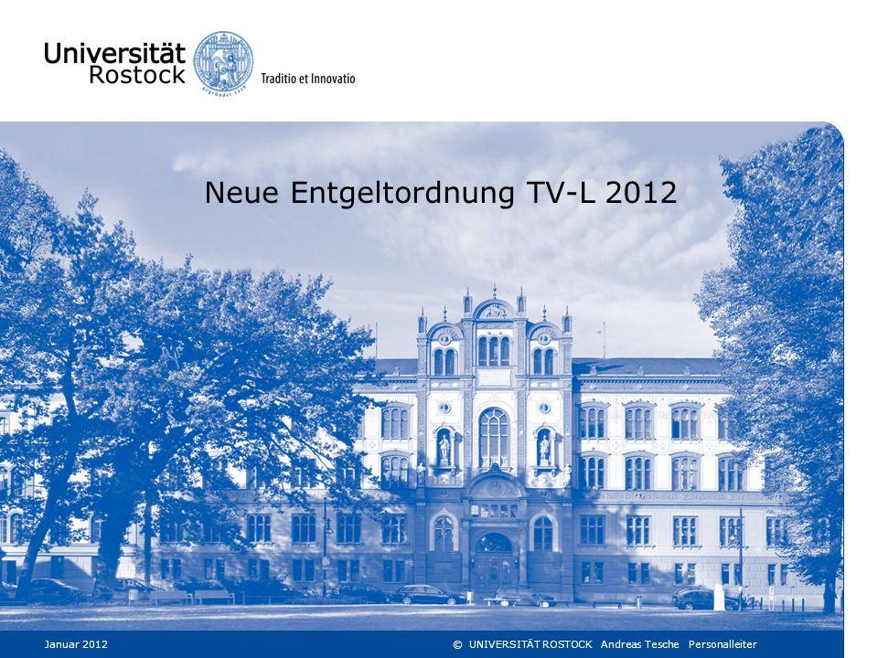 Neue Entgeltordnung TV-L 2012