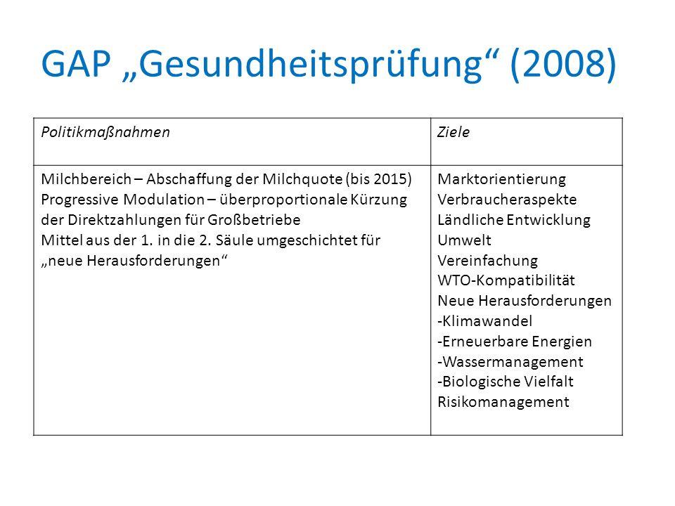 """GAP """"Gesundheitsprüfung (2008)"""