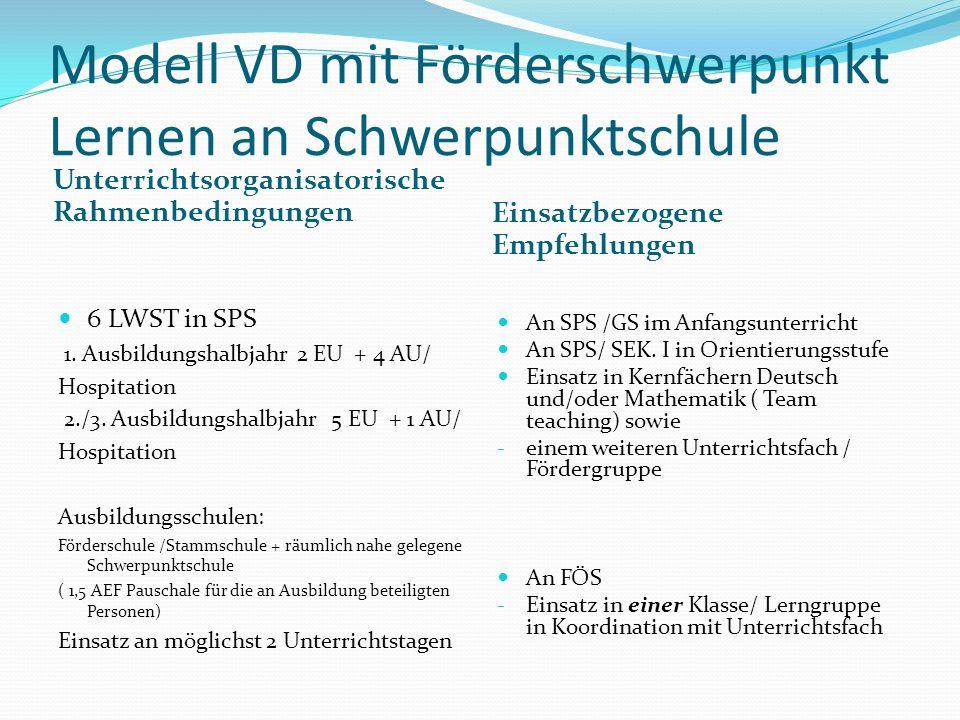 Modell VD mit Förderschwerpunkt Lernen an Schwerpunktschule