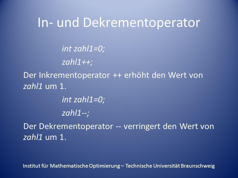 In- und Dekrementoperator