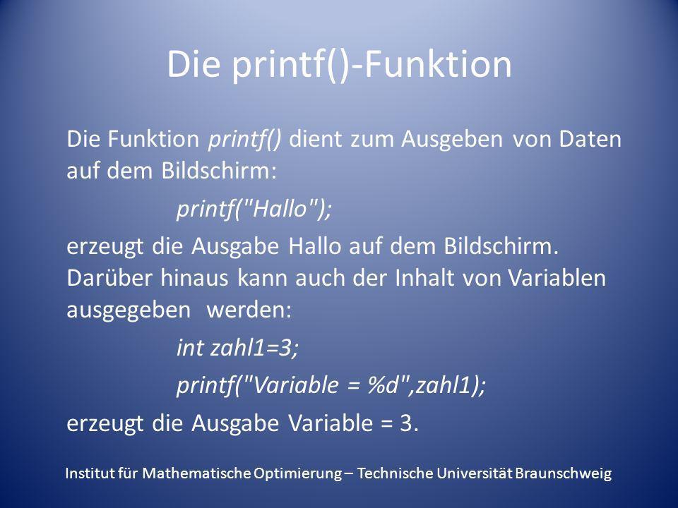 Die printf()-Funktion