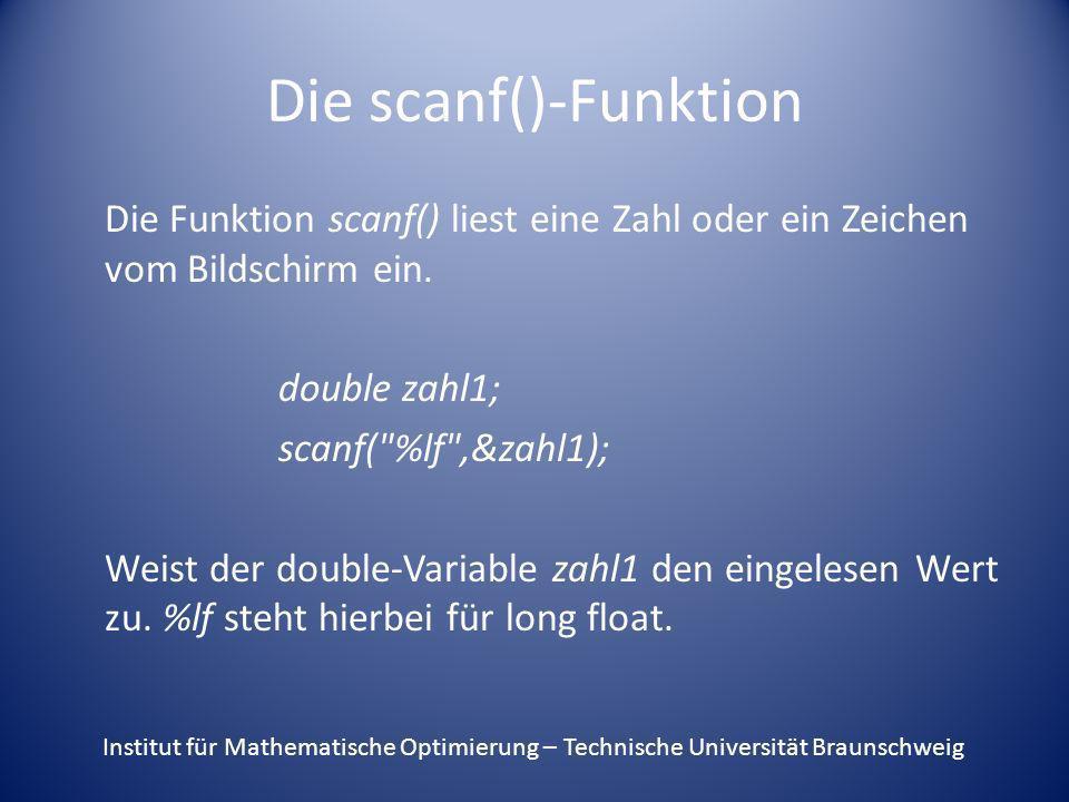 Die scanf()-Funktion