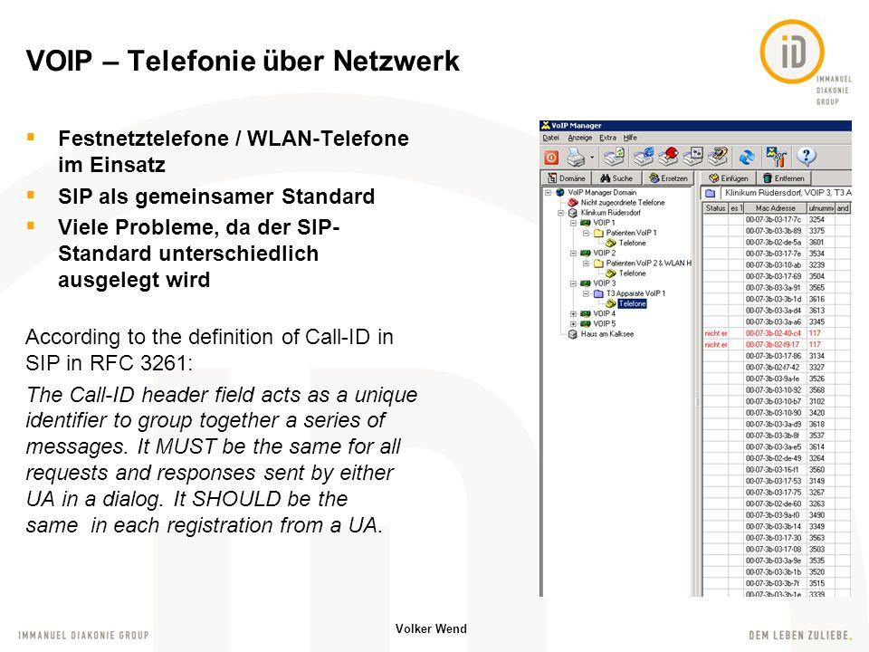VOIP – Telefonie über Netzwerk