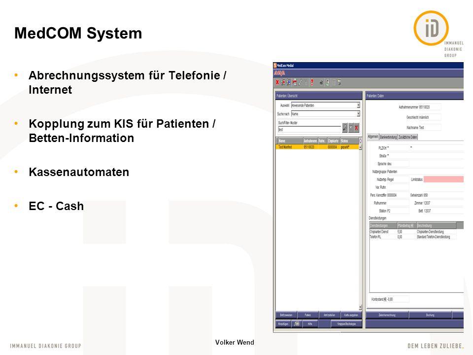 MedCOM System Abrechnungssystem für Telefonie / Internet