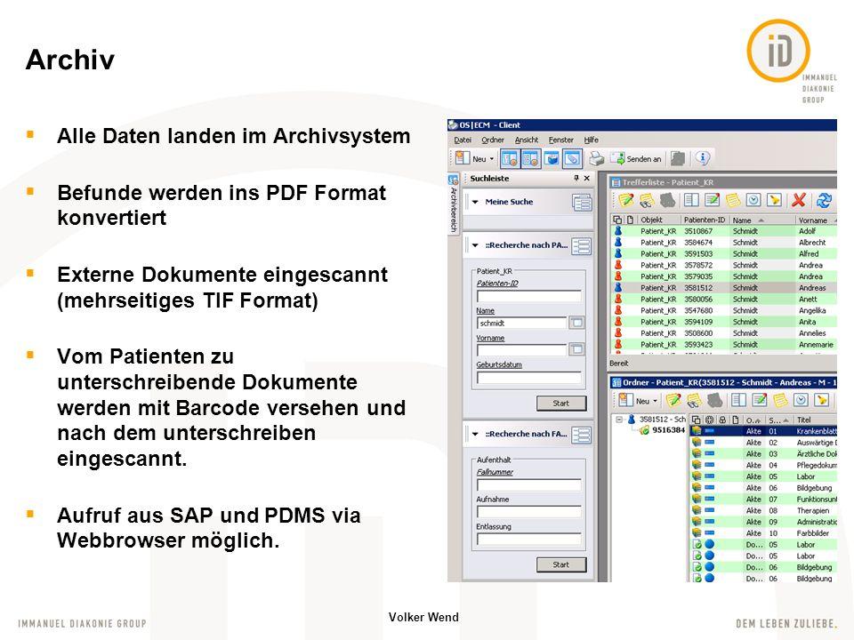 Archiv Alle Daten landen im Archivsystem