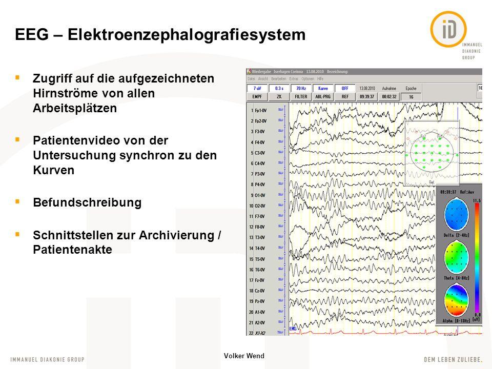 EEG – Elektroenzephalografiesystem