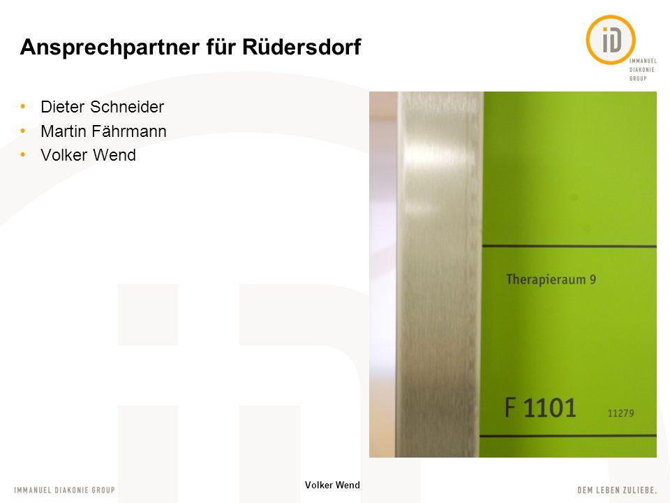 Ansprechpartner für Rüdersdorf
