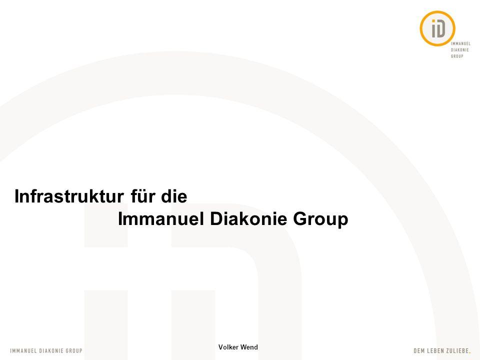 Infrastruktur für die Immanuel Diakonie Group