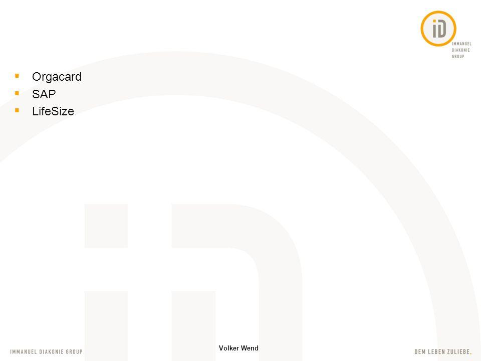 Orgacard SAP LifeSize