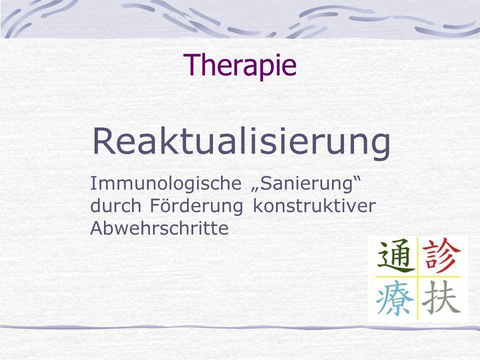 Reaktualisierung Therapie