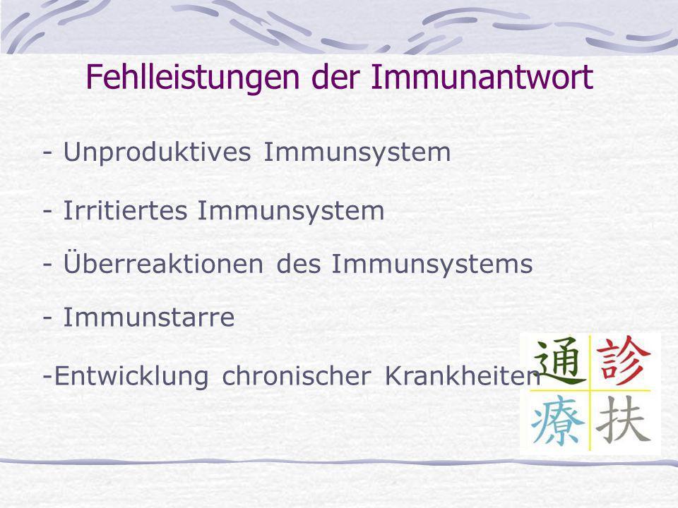 Fehlleistungen der Immunantwort