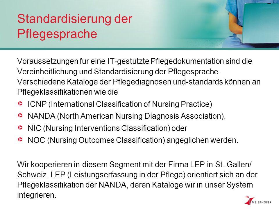 Standardisierung der Pflegesprache