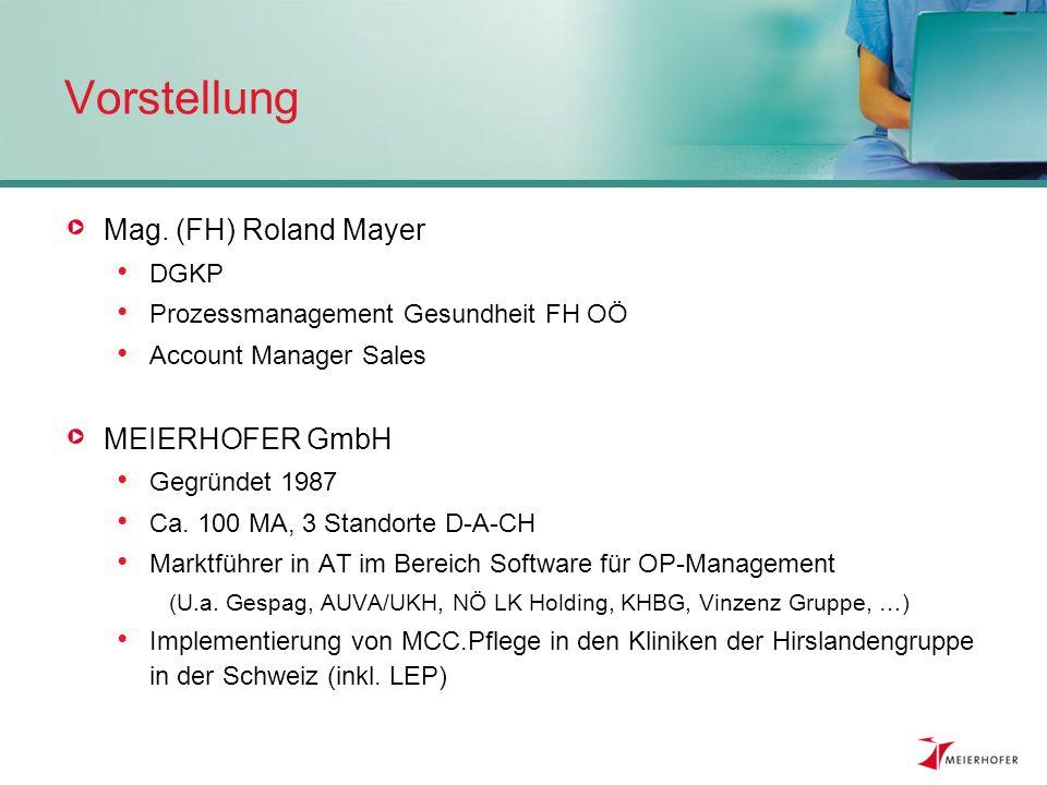 Vorstellung Mag. (FH) Roland Mayer MEIERHOFER GmbH DGKP