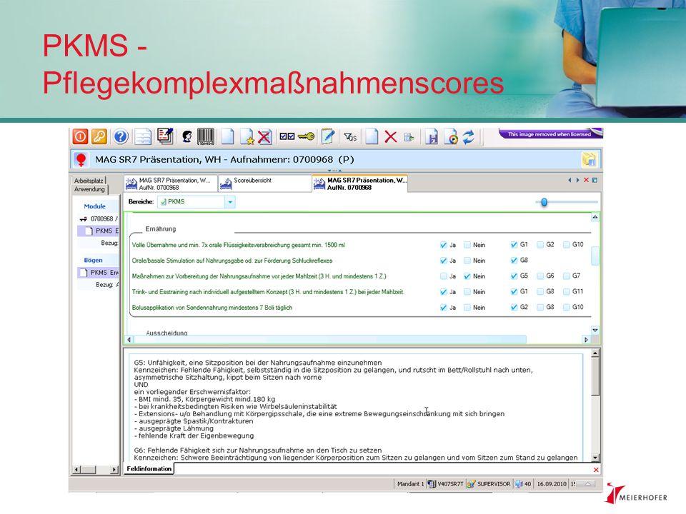 PKMS - Pflegekomplexmaßnahmenscores