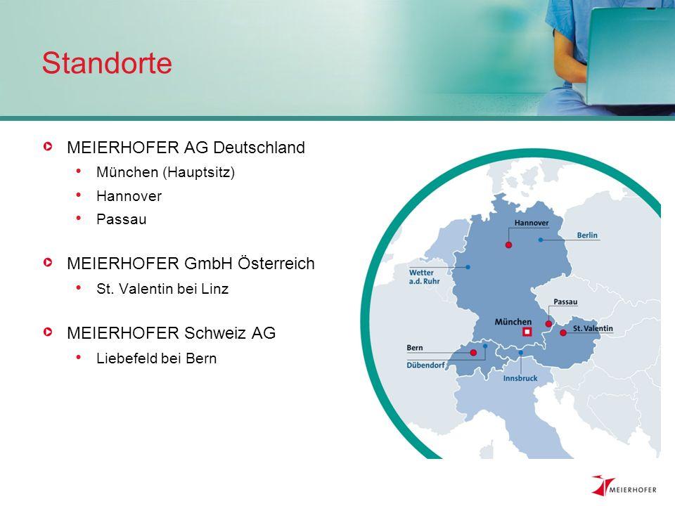 Standorte MEIERHOFER AG Deutschland MEIERHOFER GmbH Österreich