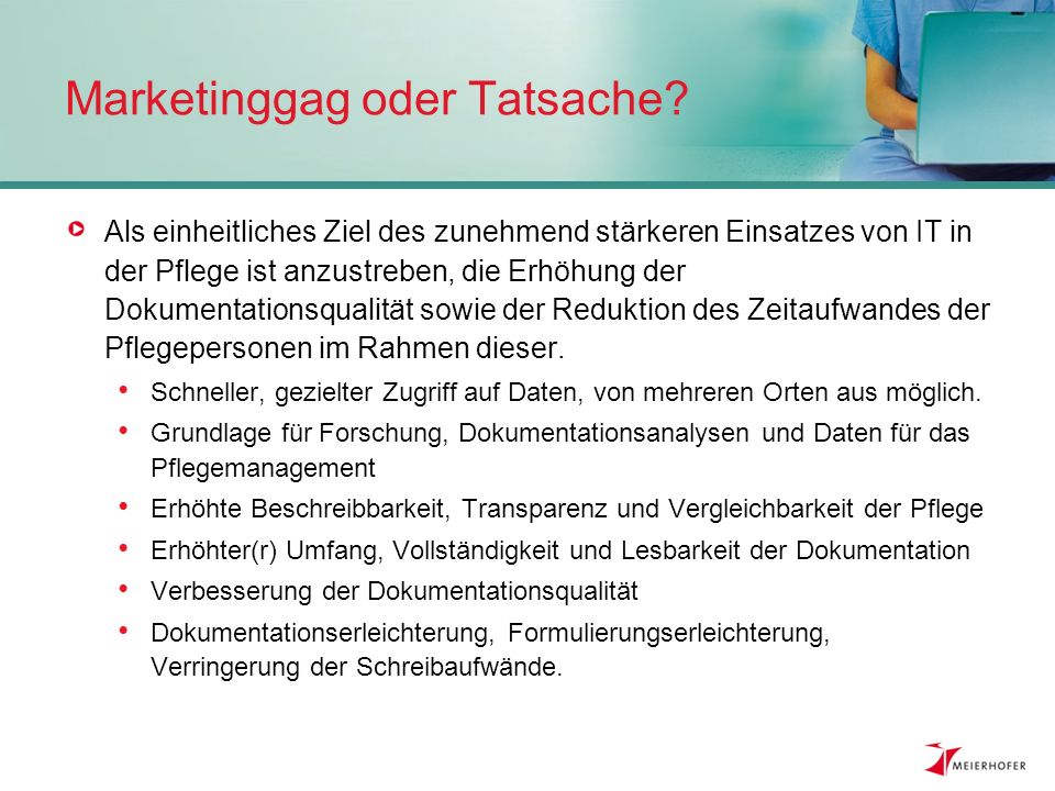 Marketinggag oder Tatsache