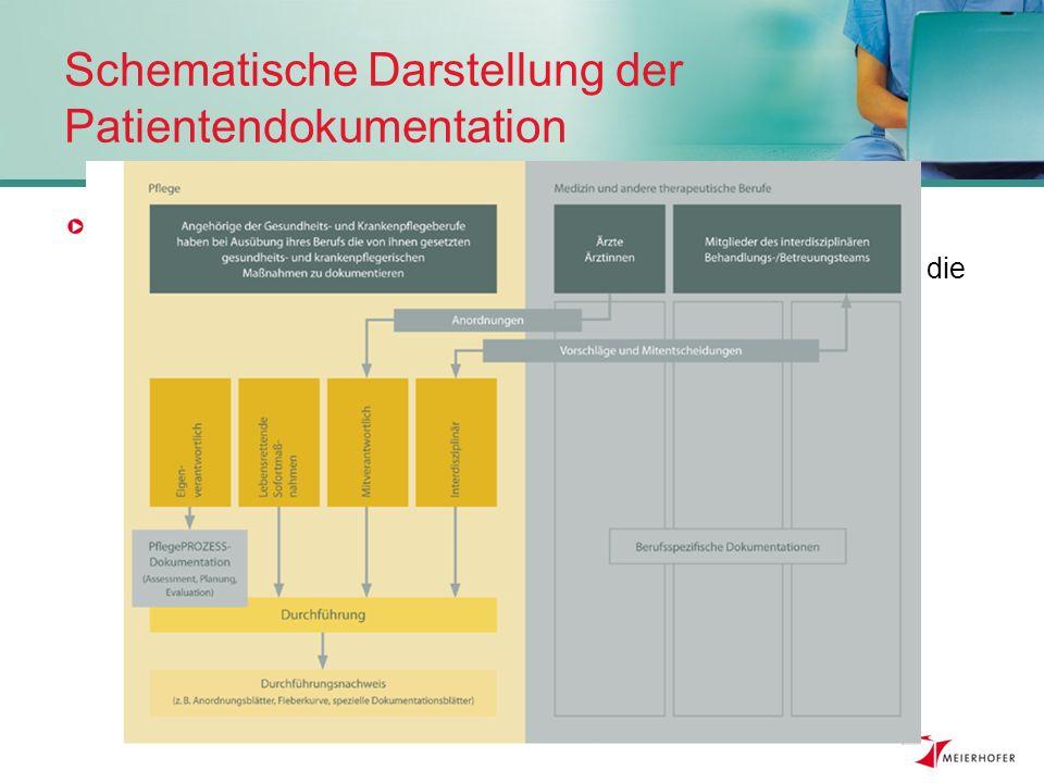 Schematische Darstellung der Patientendokumentation