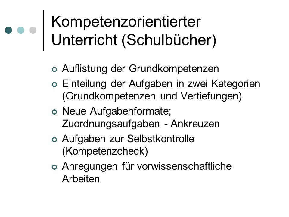 Kompetenzorientierter Unterricht (Schulbücher)