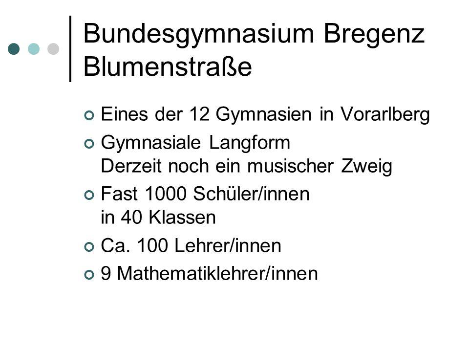 Bundesgymnasium Bregenz Blumenstraße