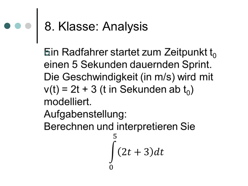 8. Klasse: Analysis