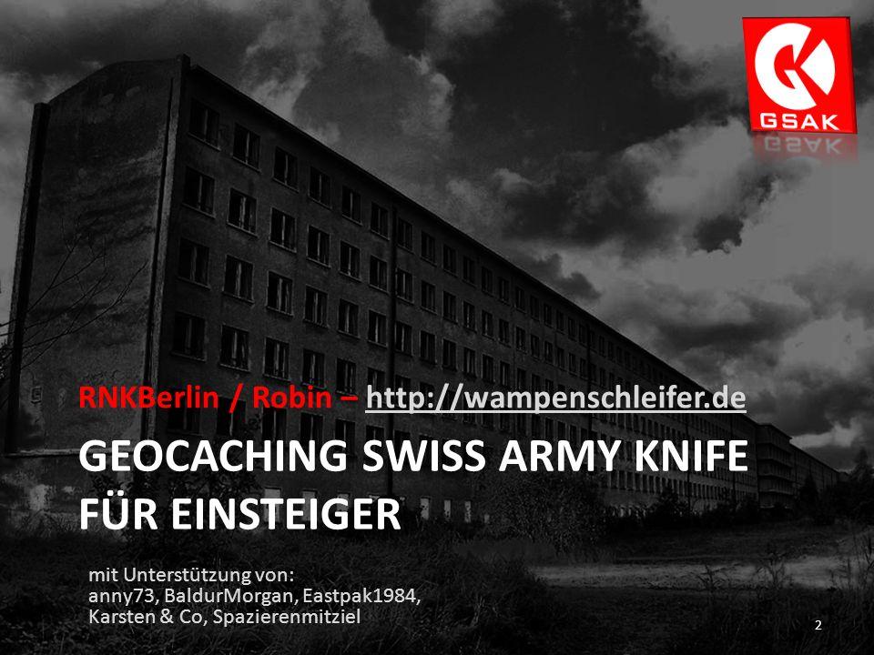 Geocaching Swiss Army Knife für Einsteiger