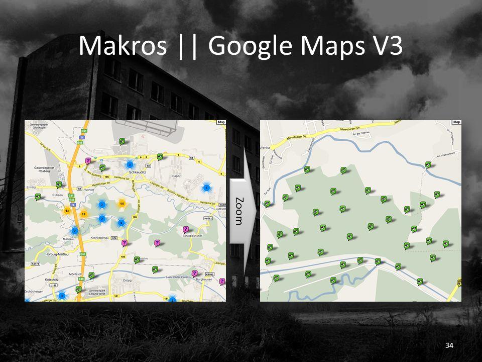 Makros || Google Maps V3 Zoom