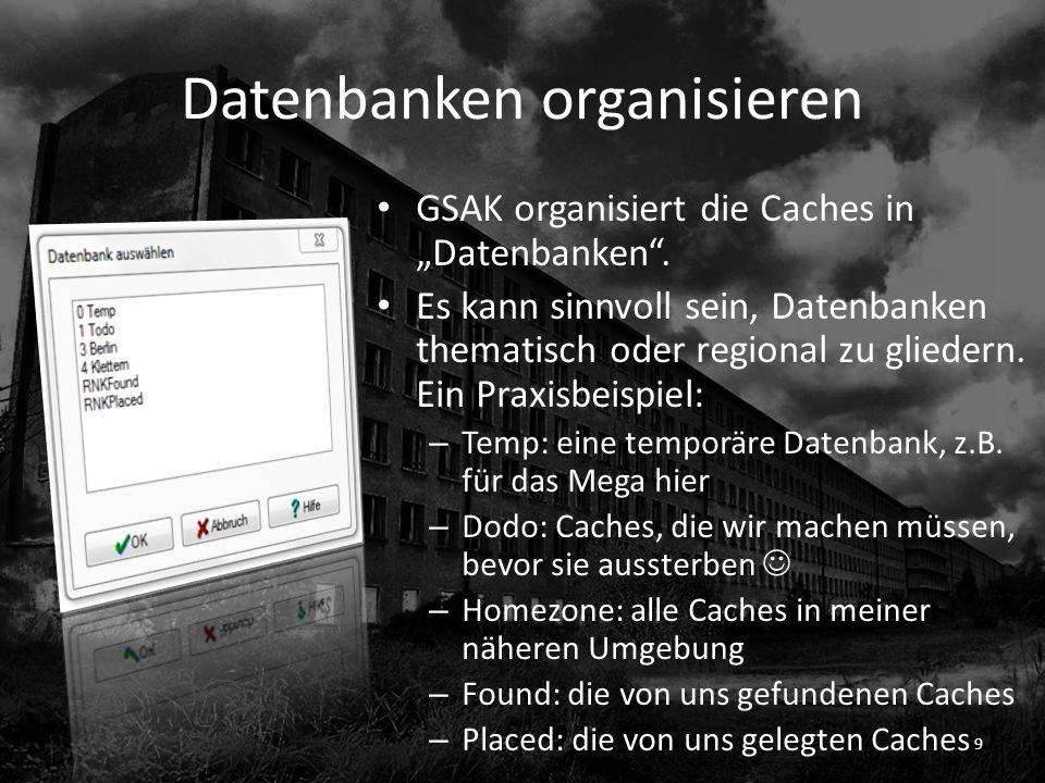 Datenbanken organisieren