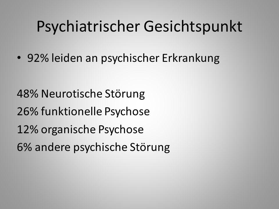 Psychiatrischer Gesichtspunkt