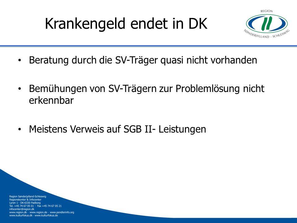 Krankengeld endet in DK