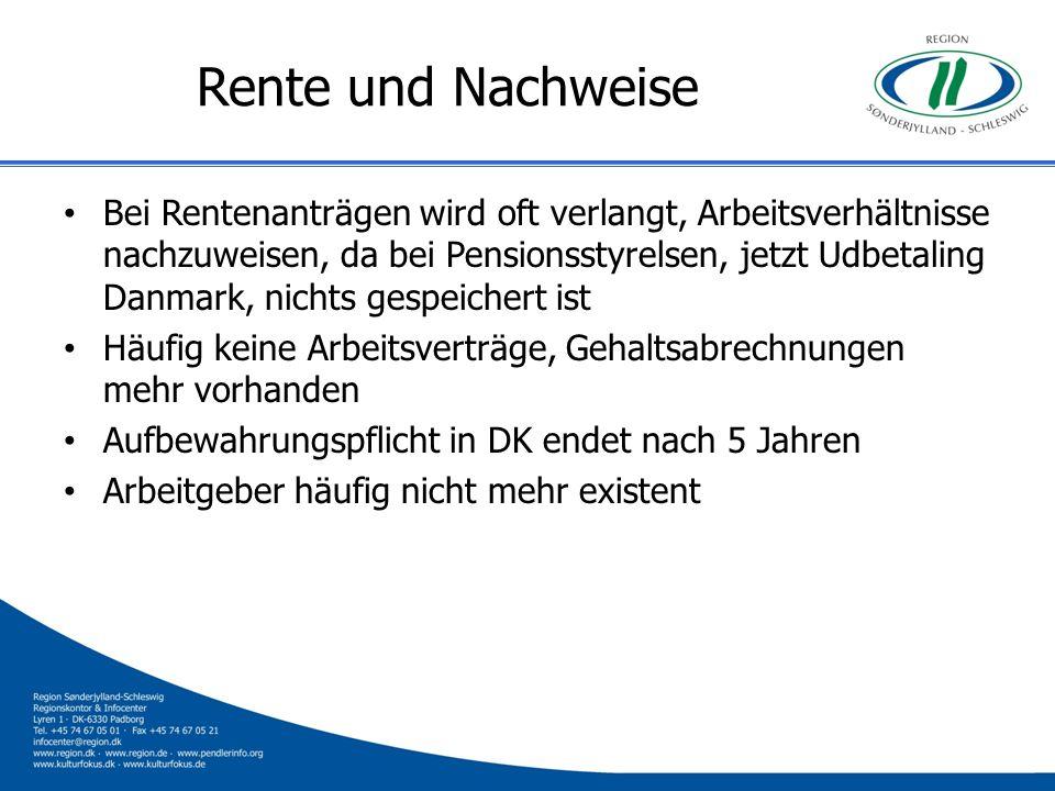 Rente und Nachweise